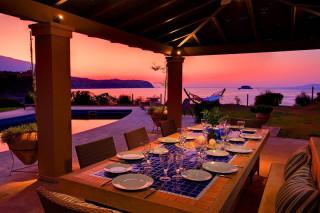 blue sea villa monambeles sunset