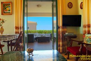 cleo villa monambeles living room area